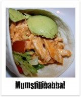 Kycklingwrap med tacosmak