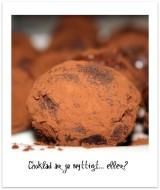 Mörk chokladtryffel med rostad hasselnöt och nougat